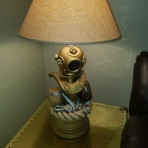 Other - Handmade, 1 of A Kind Diving Helmet Nautical Lamp